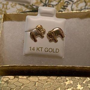 14k Gold Elephant Earrings 🐘✨